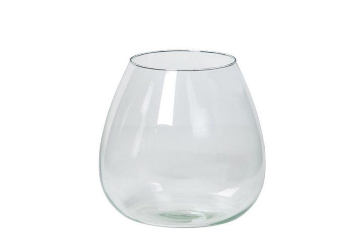 schlichte leicht bauchige Vase aus Glas, gratis Zugabe bei Bestellung von Blumenstrauß