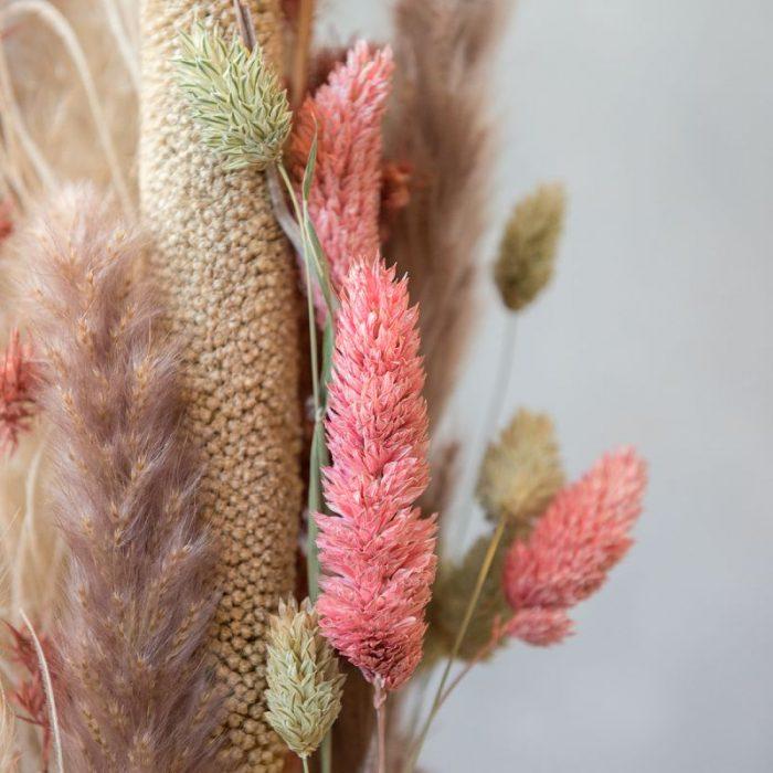 Samuel, Dekoration mit Trockenblumen, stehender Dekoring