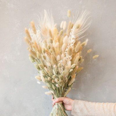 naturfarben, Dry Flower Trockenblumen Strauß